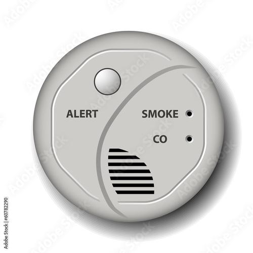 vector fire smoke carbon monoxide detector alarm Canvas-taulu