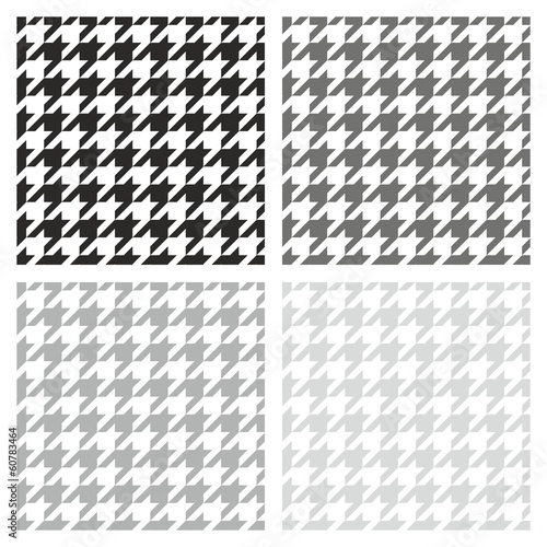 Photo  Houndstooth vector grey, black and white background set
