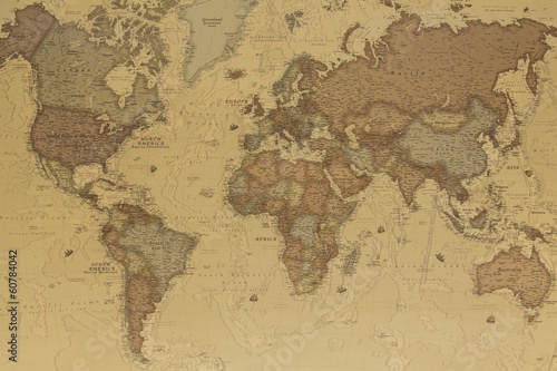 Photo  Ancient world map