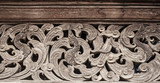 Wood carve,Thai old magnificent leaf texture wood carving