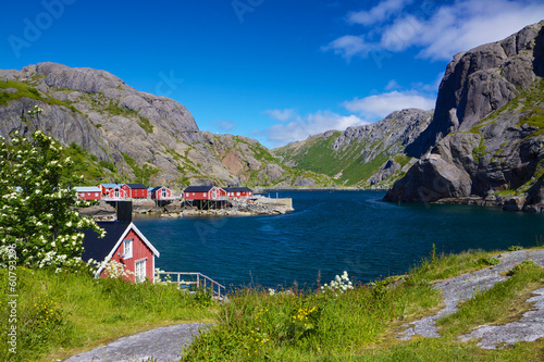 Photo Stands Scandinavia Fishing village Nusfjord
