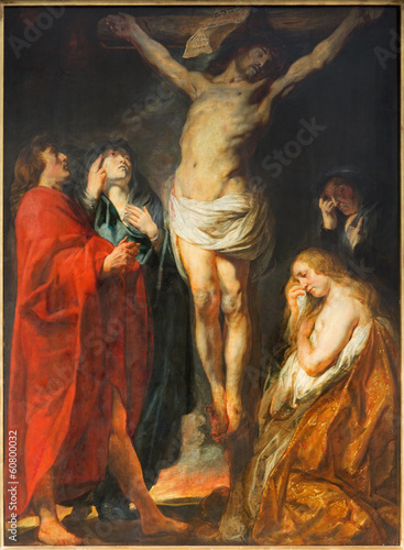 Antwerp - The Crucifixion paint by Jacob Jordaens