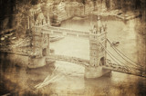 Vintage Retro Picture of Tower Bridge in London, UK - 60806495