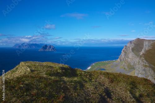 Printed kitchen splashbacks South Africa Cliffs on Lofoten