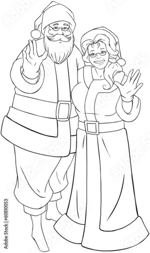 Free Mrs Claus Coloring Page, Download Free Clip Art, Free Clip ...   500x298
