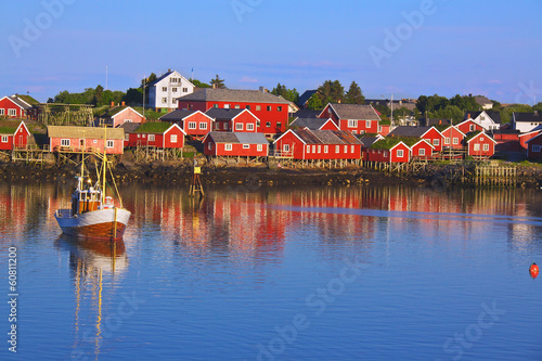 Norwegian fishing village