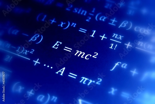 Einstein formula of relativity Poster