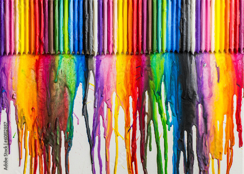 Melted Crayons Colorful Abstract