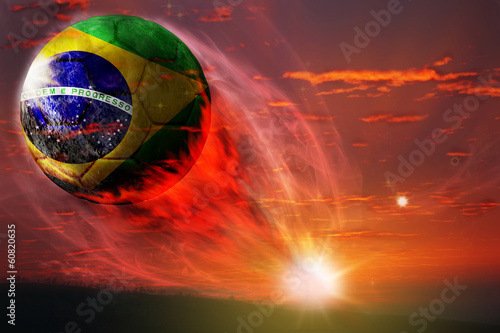 Photo  Brazil ball in galaxy