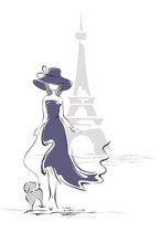 Lady In A Hat In Paris