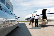 Flight Attendant And Pilot Nea...