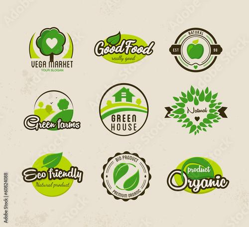 Fotografía  Eco bio natural labels