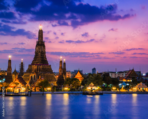 Photo  Wat Arun in Bangkok of Thailand
