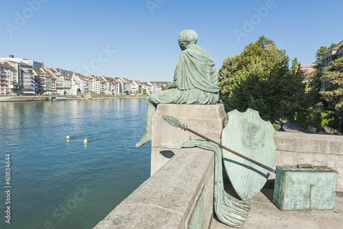 Fotografía  Basel, Altstadt, Rhein, Helvetia, Ufer, Kunst, Schweiz