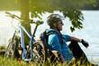 Biker am See