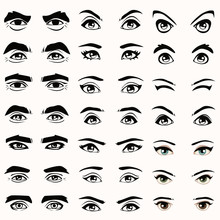 Female And Male Vector Eyes An...