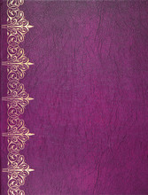 Violet And Golden Leather Cover
