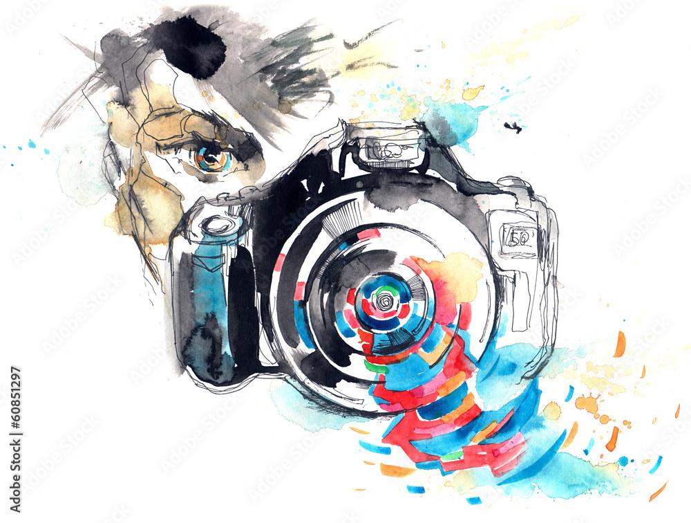 Fototapety, obrazy: photo camera