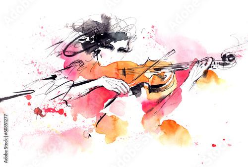 Foto auf Leinwand Gemälde music