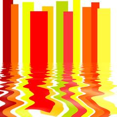 Fototapeta Wieloczęściowe Background With Stripes and Reflection in the Water