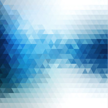 Abstract Blue Flow Mosaic Back...