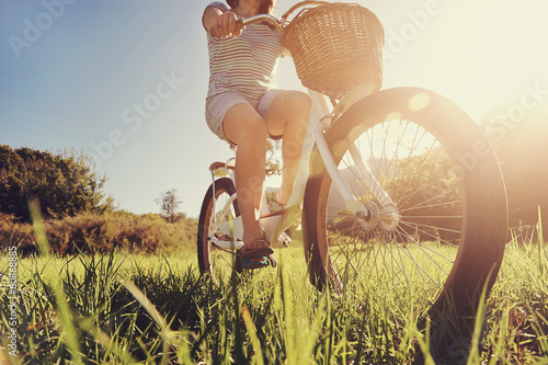 Photo Stands Cycling Bicycle woman