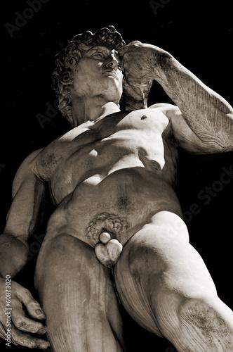 Fotografía  Replica of the David by Michelangelo in Florence, Italy