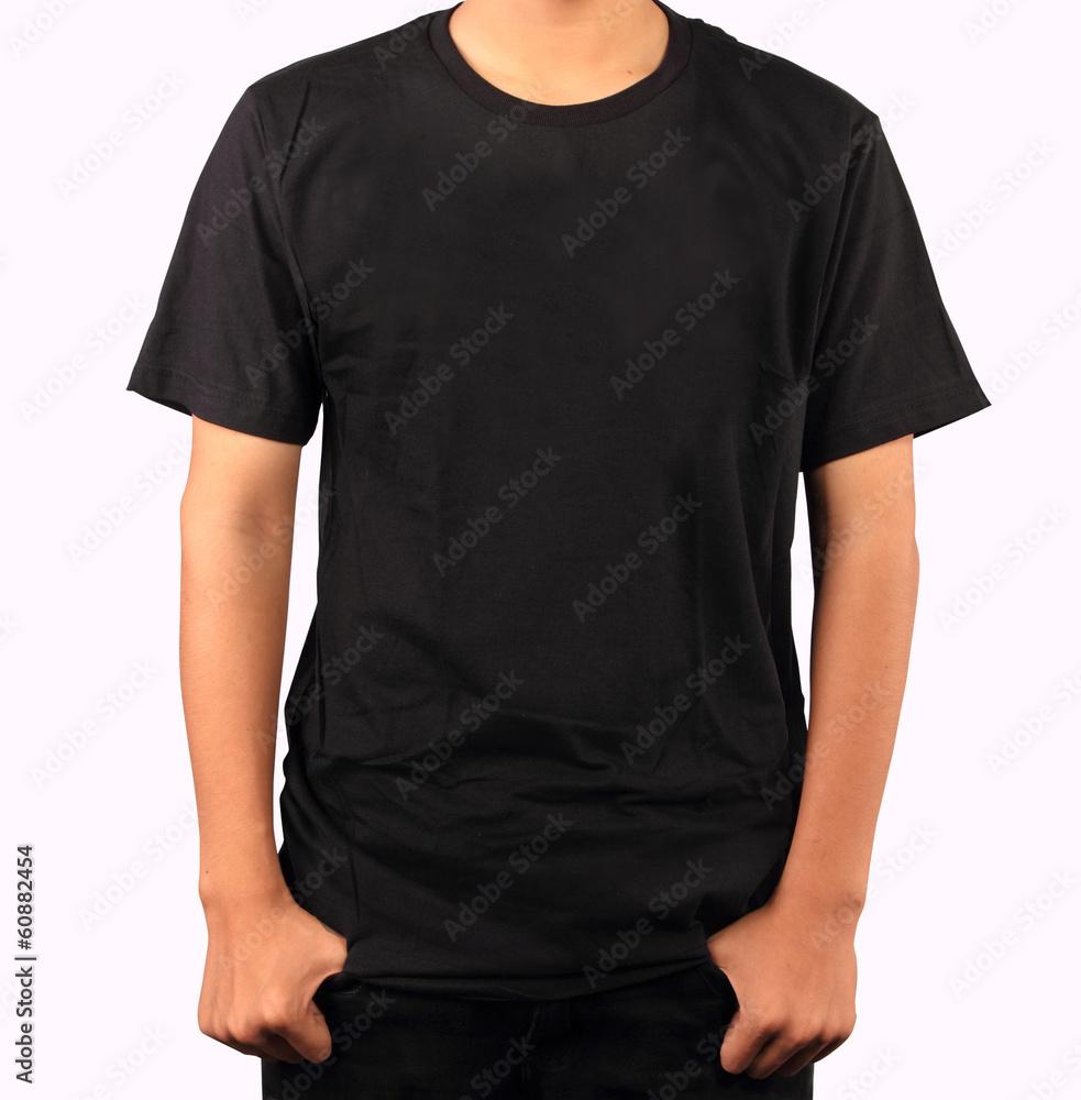 Black T Shirt Template Foto Poster Wandbilder Bei Europosters