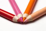 Fototapeta Tęcza - wielokolorowe ołówki