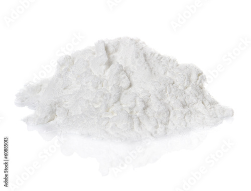 Fotografie, Obraz  Kokain léky haldy na bílém pozadí