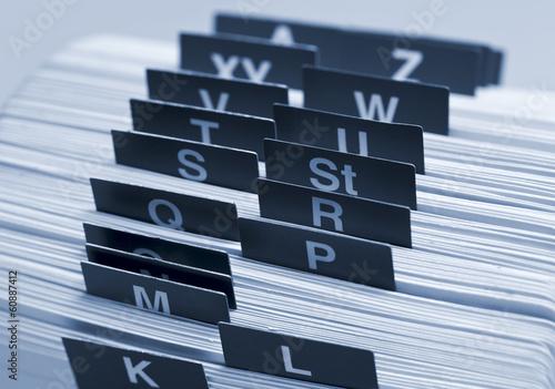 Fotografía  Alphabetisches Register, Kartei