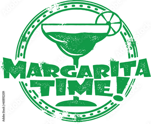Fotografie, Obraz  Vintage Margarita Cocktail Stamp