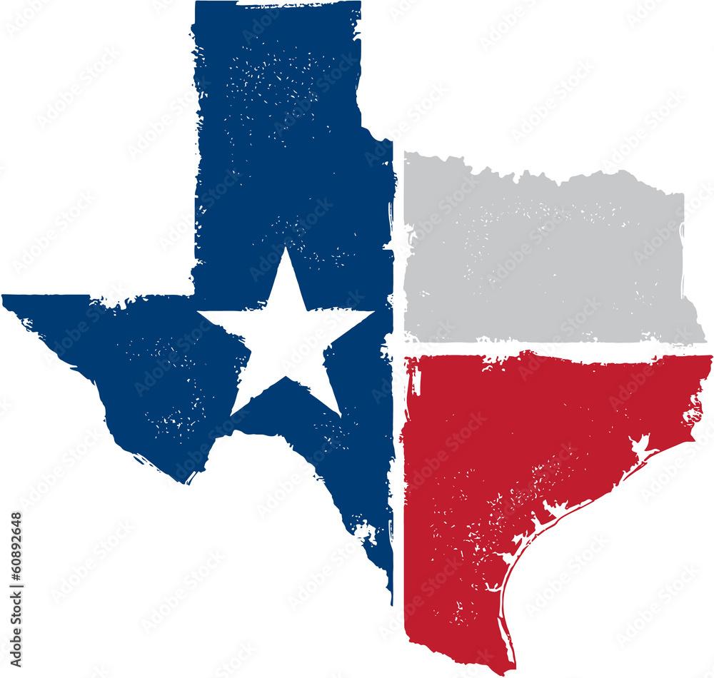 Fototapety, obrazy: Vintage Texas State Artwork