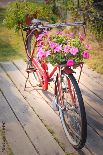 Foto op Plexiglas Fiets Red vintage bicycle