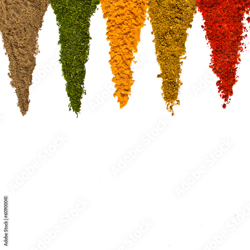 Canvas Prints Spices Different spices on a white background