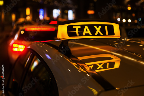 Les taxis sont taxistand Poster Mural XXL