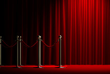 Rope Barrier With Red Carpet A...