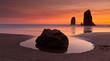 Leinwandbild Motiv Haystack Rock