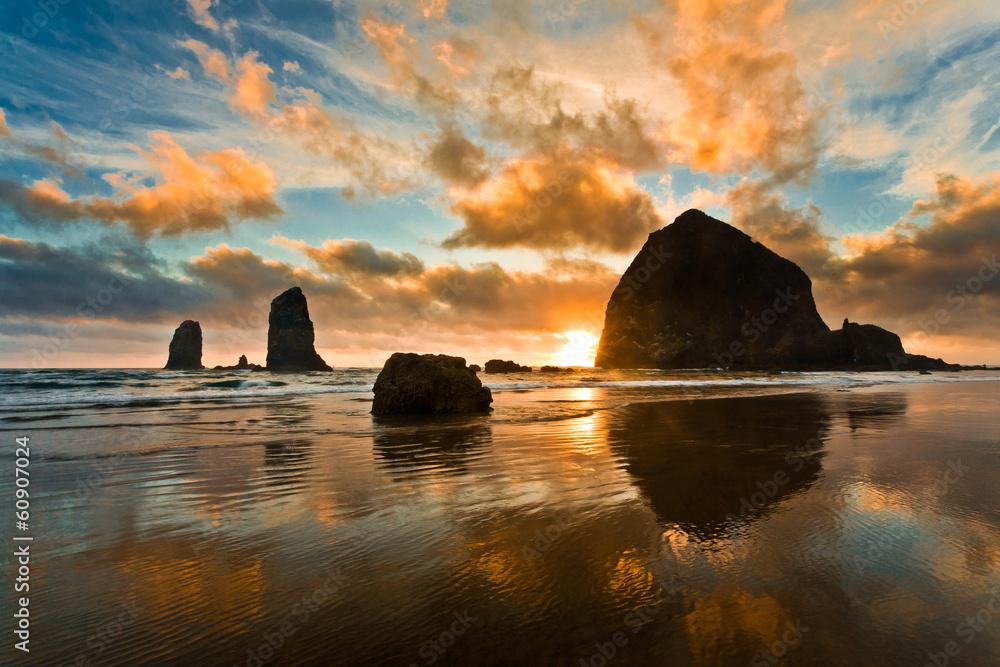Fototapety, obrazy: Haystack Rock