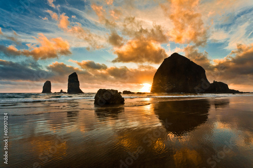 Photo sur Aluminium Cote Haystack Rock