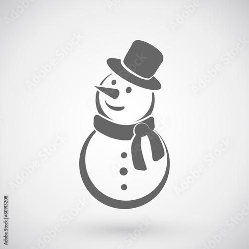Photo Snowman icon.