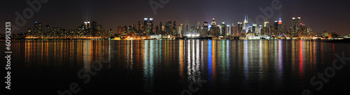 New York City Manhattan midtown skyline at night #60913213