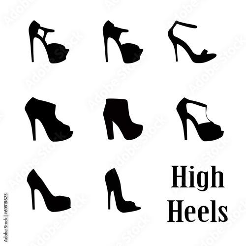 Fototapeta woman high heel shoe