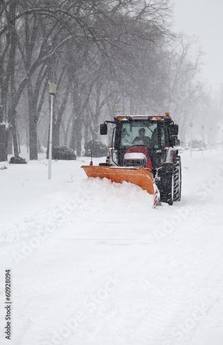 Printed kitchen splashbacks Storm The tractor removal snow