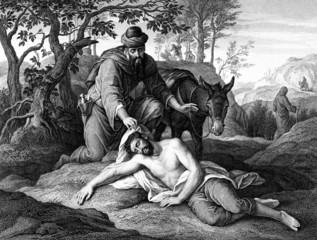 Obraz na Plexithe Good Samaritan