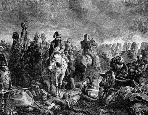 Fotografie, Obraz  Napoleon Bonaparte at the Battle of Waterloo