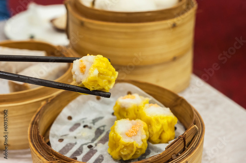 фотографія  Classic shumai at Hong Kong dim sum restaurant