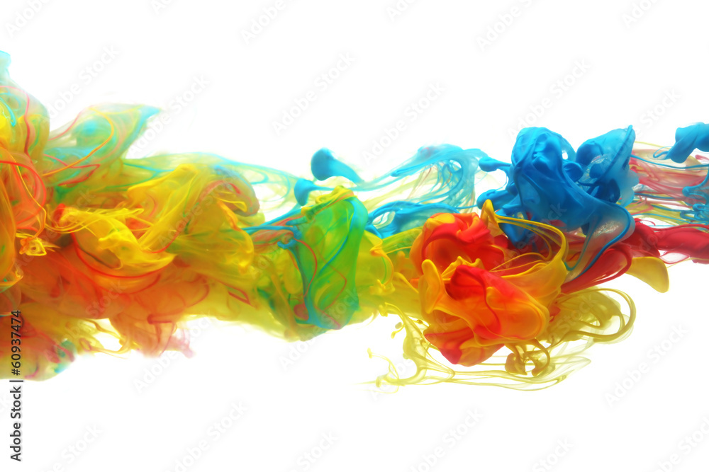 Fototapety, obrazy: Colorful ink in water