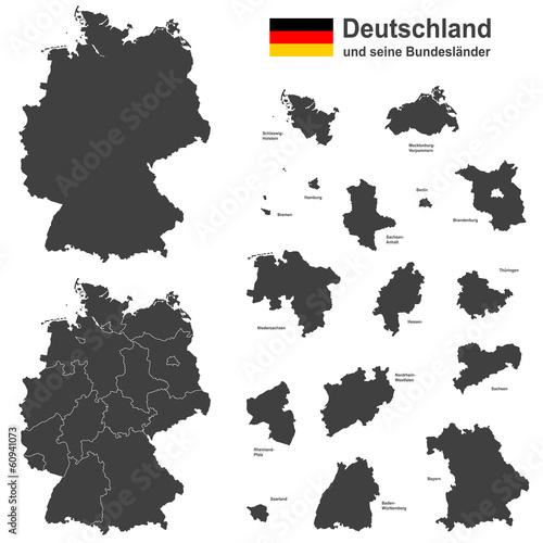 Fotografie, Obraz  Deutschland und seine Bundesländer