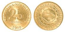 25 Philippine Sentimo Coin